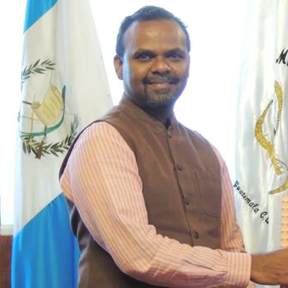 sh. bs mubarak embajador de india en Guatemala